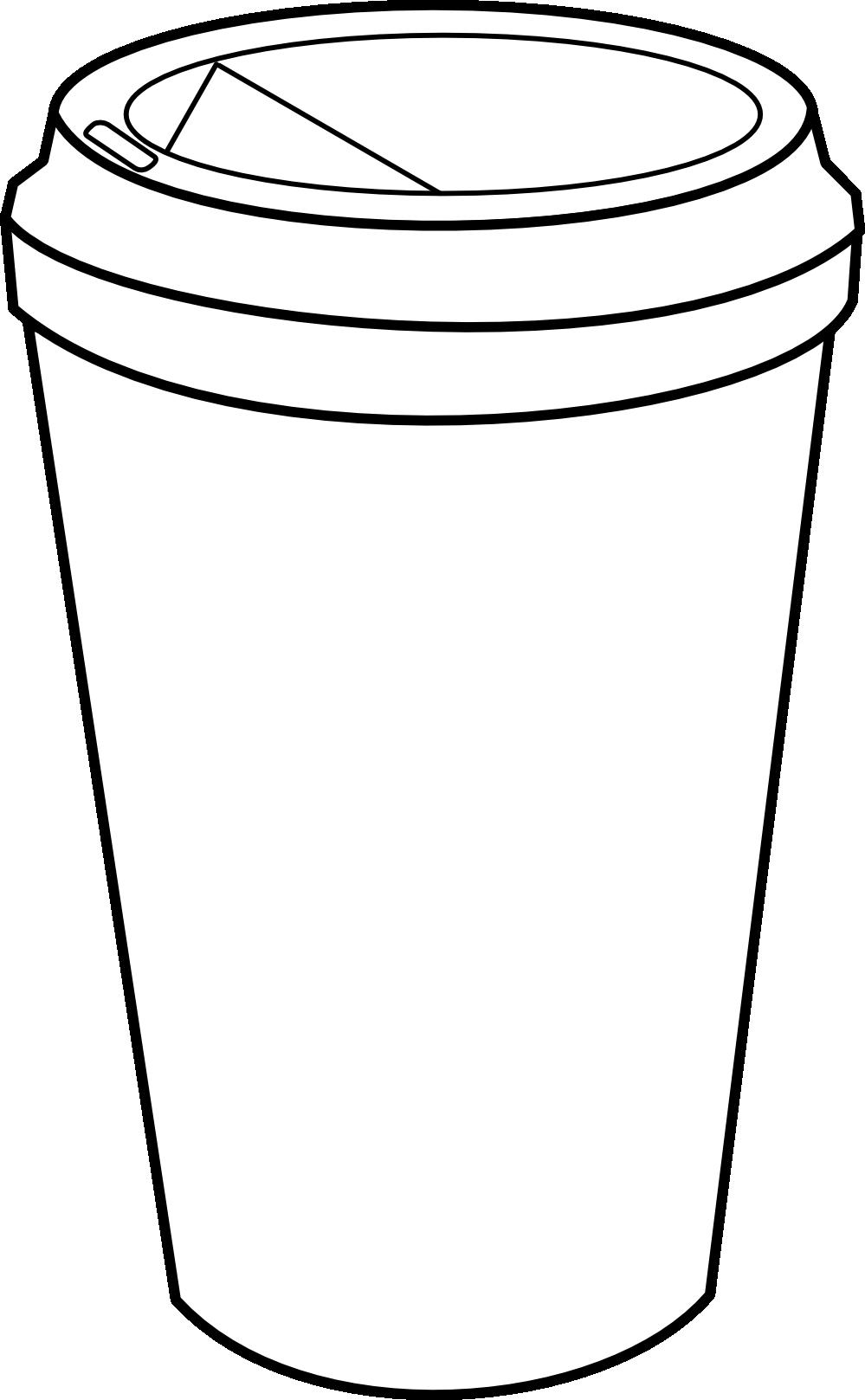 Panda Drinking Starbucks Clipart