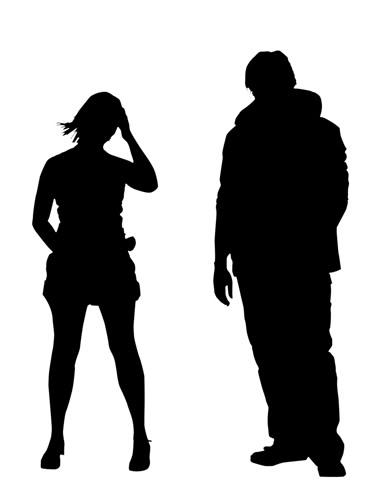 silhouette of a couple guy and | Clipart Panda - Free ...