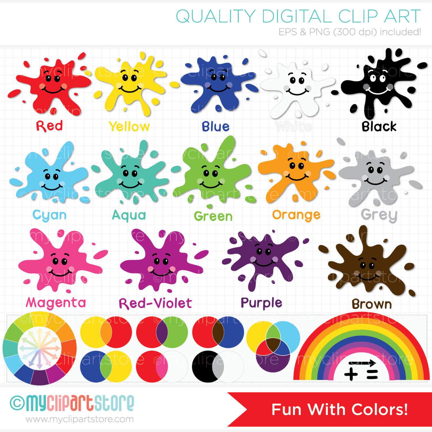 Color Clip Art Free on Educational Printables