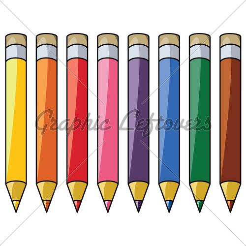 Attractive Colored Pencils Clipart