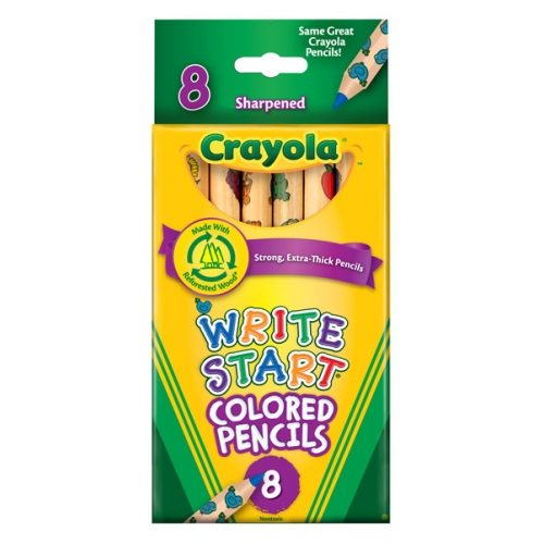 crayola write start colored pencils Colored pencils : free shipping on  crayola full size non-toxic colored pencil set in trayola,  crayola write start colored pencils (pack of 8) 2 reviews.