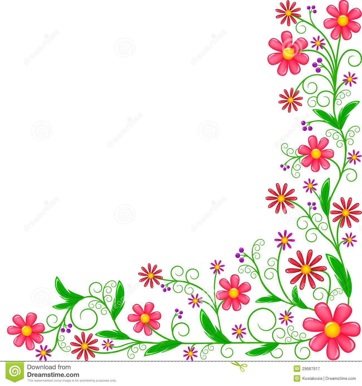 Flower Corner Border Clipart | Clipart Panda - Free ...