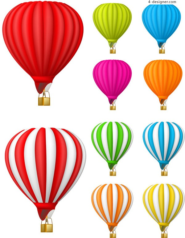 Colorful Hot Air Balloon Drawing | Clipart Panda - Free