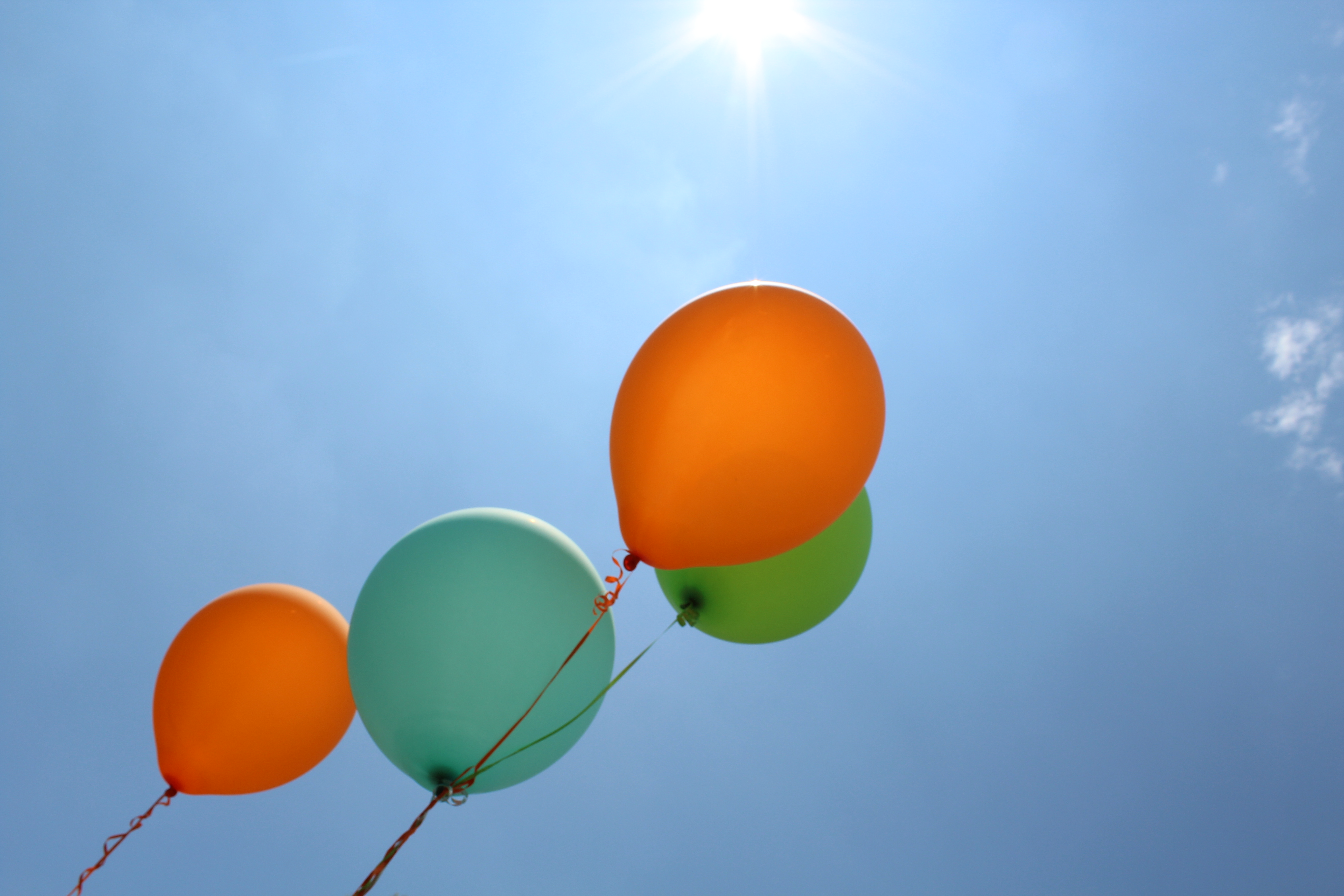 Colorful Balloons In The Sky | Clipart Panda - Free ...