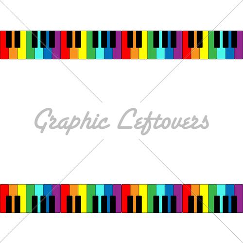 Keyboard Border In Rainbo. | Clipart Panda - Free Clipart ...
