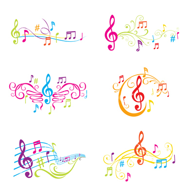 Set of colorful musical notes | Clipart Panda - Free ...