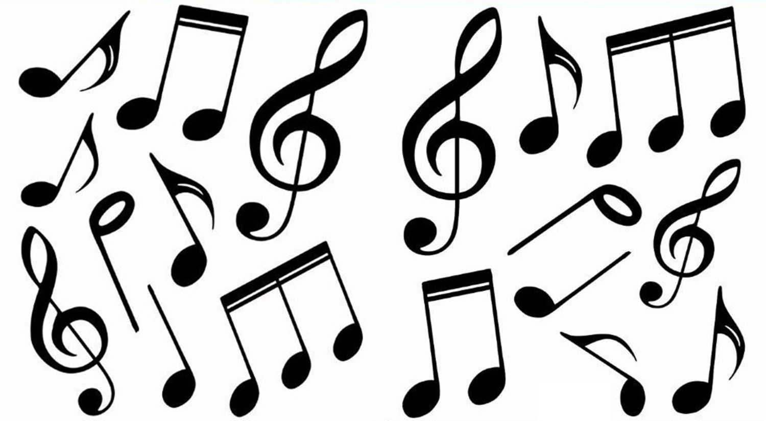 Line Art Music Notes : Colorful music notes in a line clipart panda free
