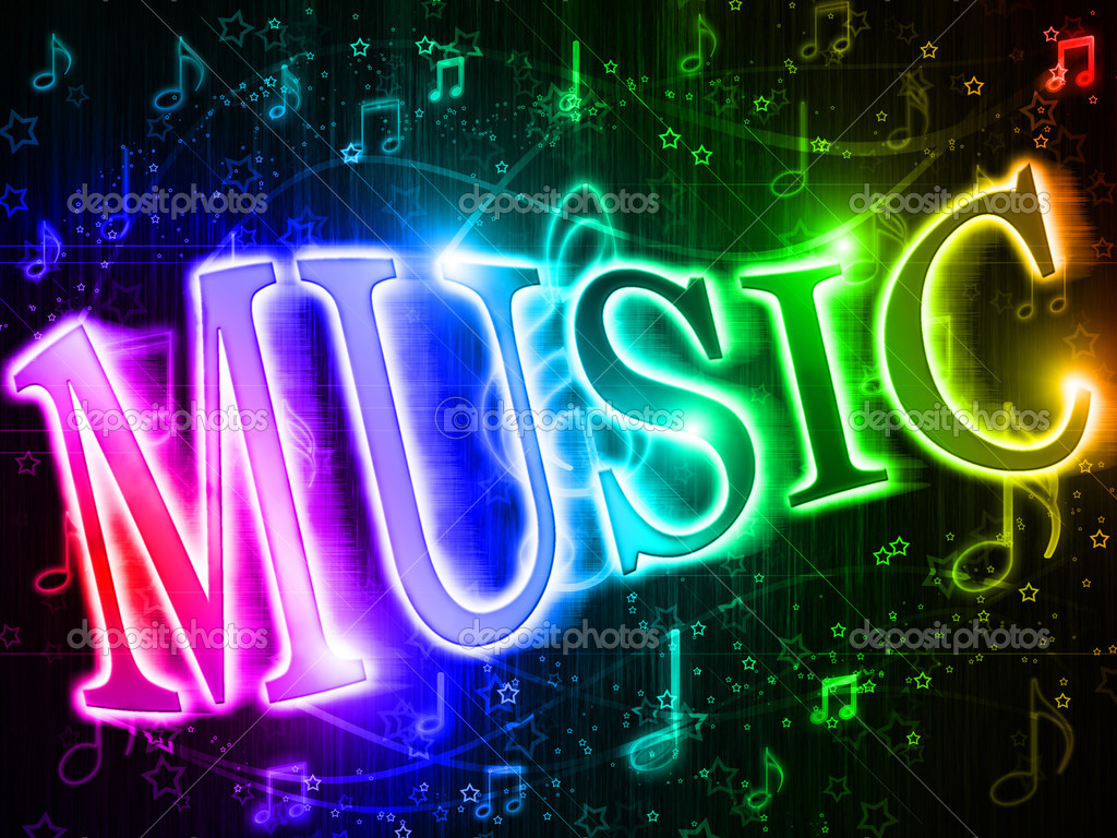 Colorful Music Notes Symbols