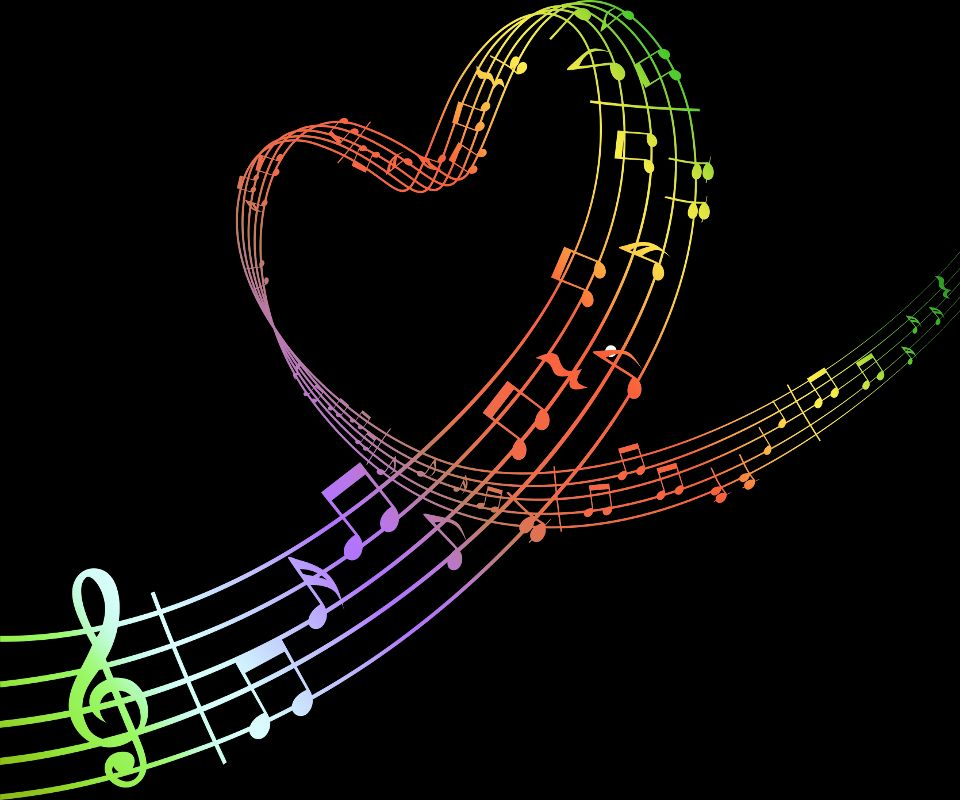 Colorful Music Notes Wallpaper | Clipart Panda - Free Clipart Images