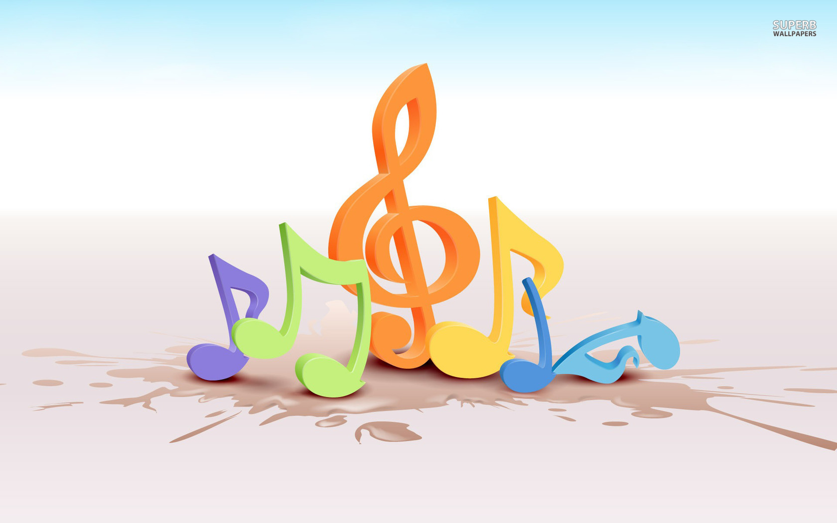 Colorful Music Notes Wallpaper | Clipart Panda - Free ...