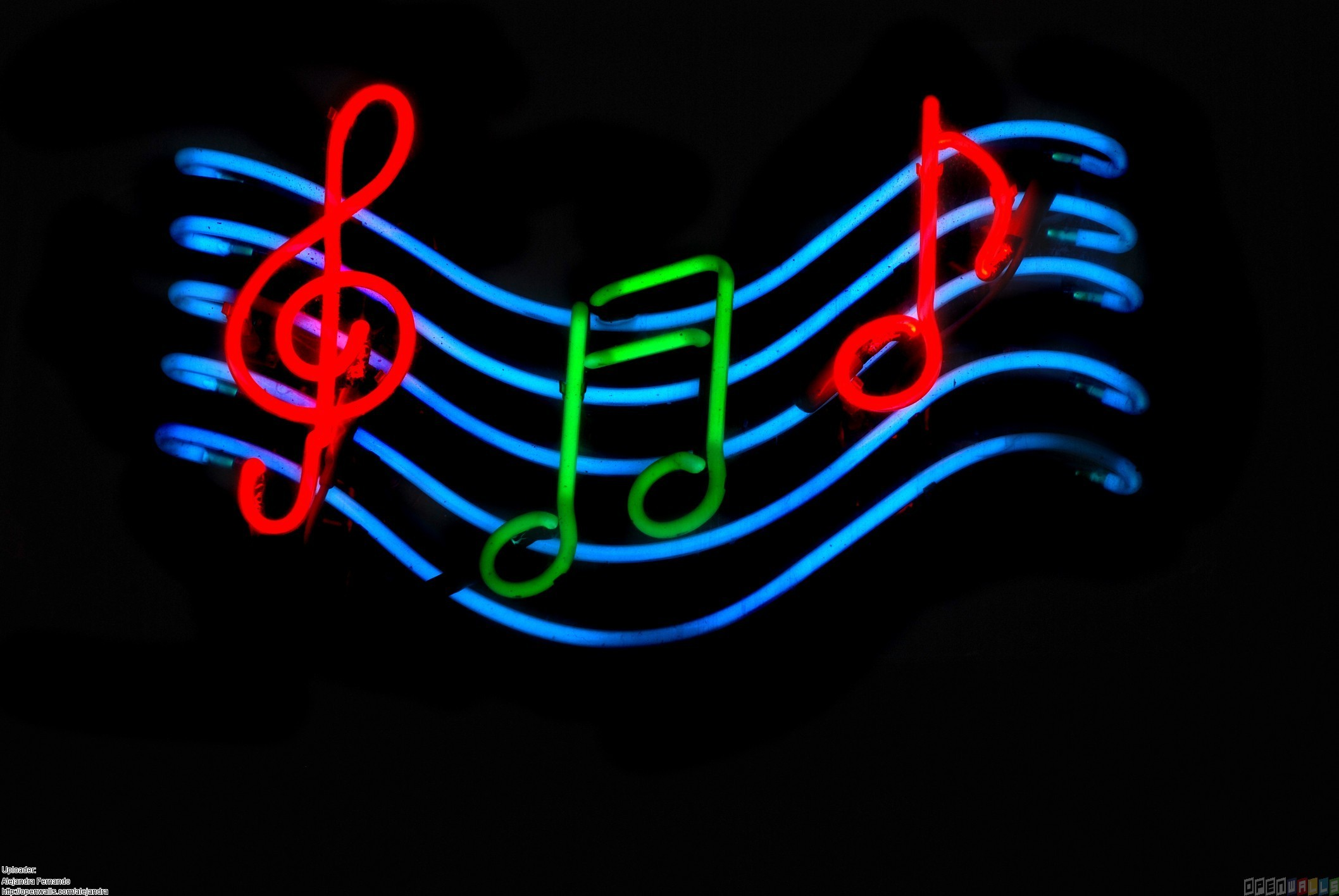 Neon Music Notes Wallpaper: Colorful Music Notes Wallpaper
