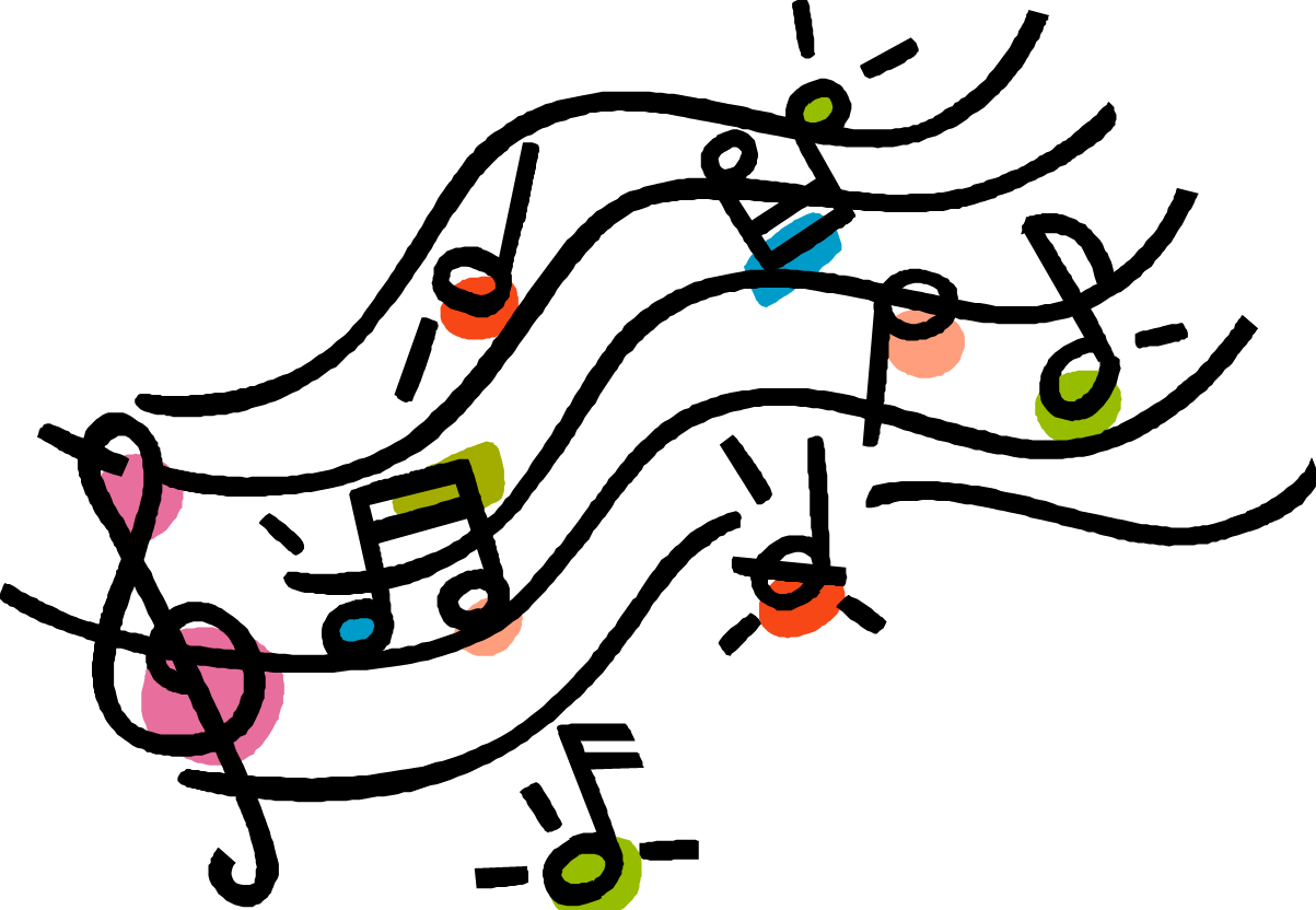 Image result for colorful music note clipart