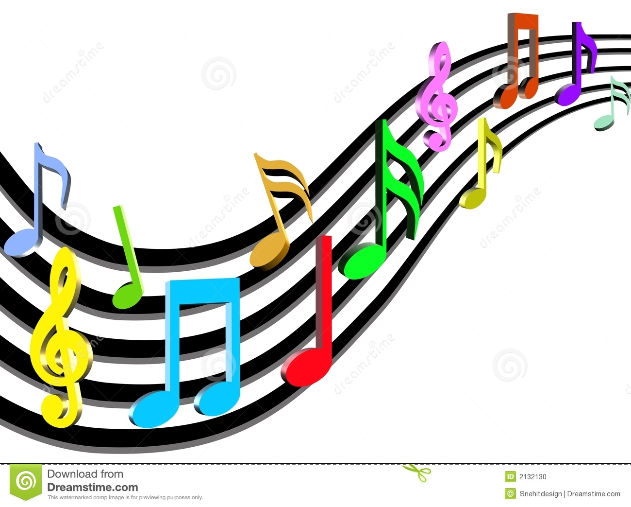 3d Colorful Music Notes Wallpaper: Colorful Musical Notes Background