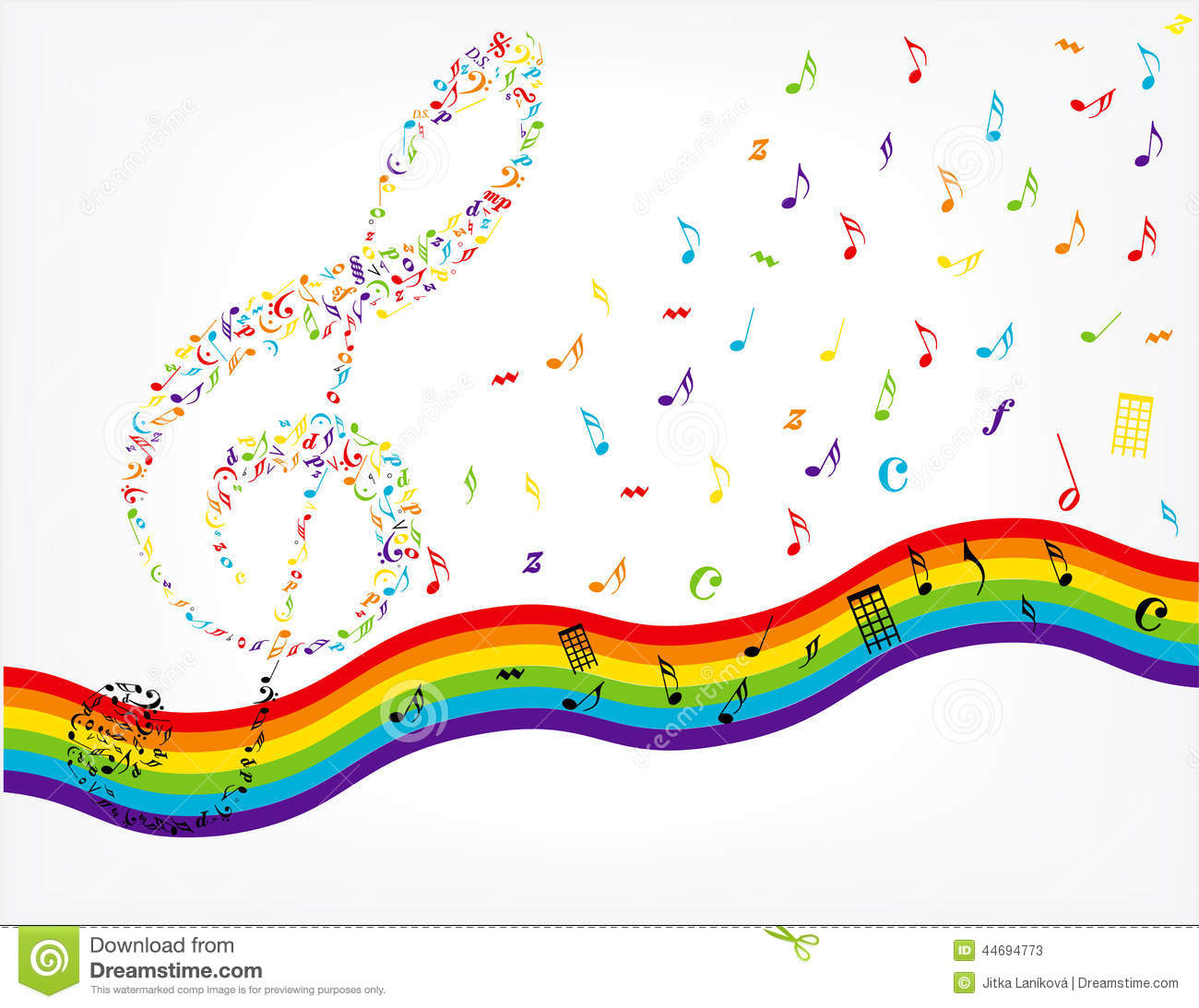colorful music staff clipart clipart panda free