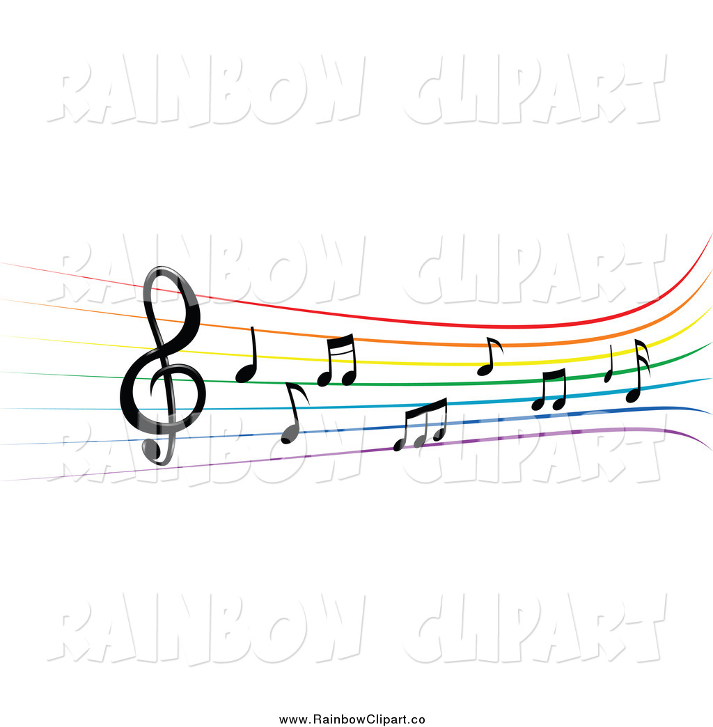 -music-staff-clipart-vector-clip-art-of-a-rainbow-staff-with-music ...