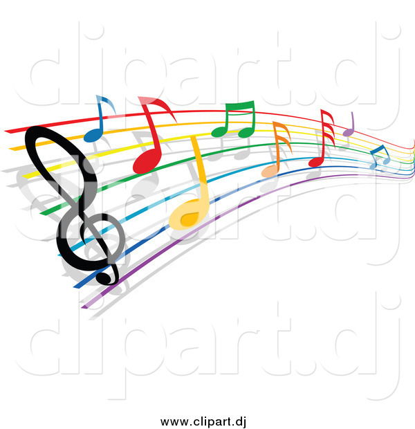 Colorful Music Staff Clipart | Clipart Panda - Free ... Rainbow Music Notes Border