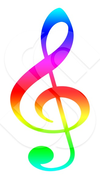 Colorful Single Music Symbols | Clipart Panda - Free ...  Colorful Single...
