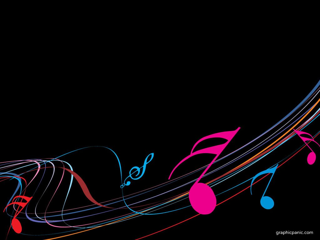 colorful musical notes border