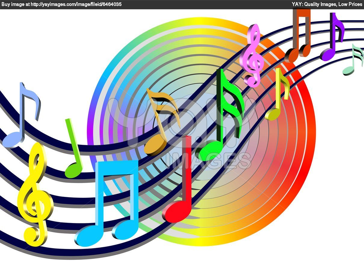 Colorful Musical Notes Wallpaper | Clipart Panda - Free ...