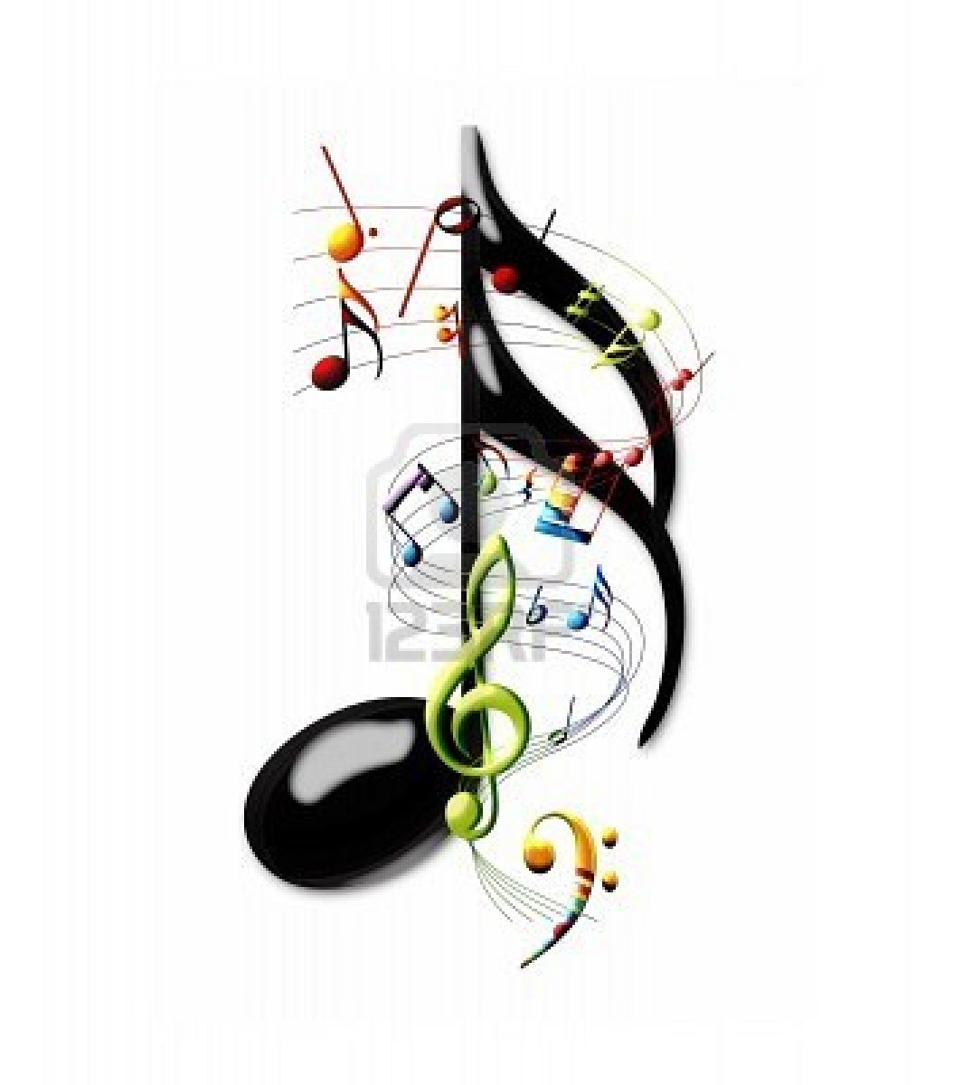 Colorful Music Notes Wallpaper 7573646 Multi Colored Musical Notes And - Music picture 4u colorful single music symbols clipart panda free