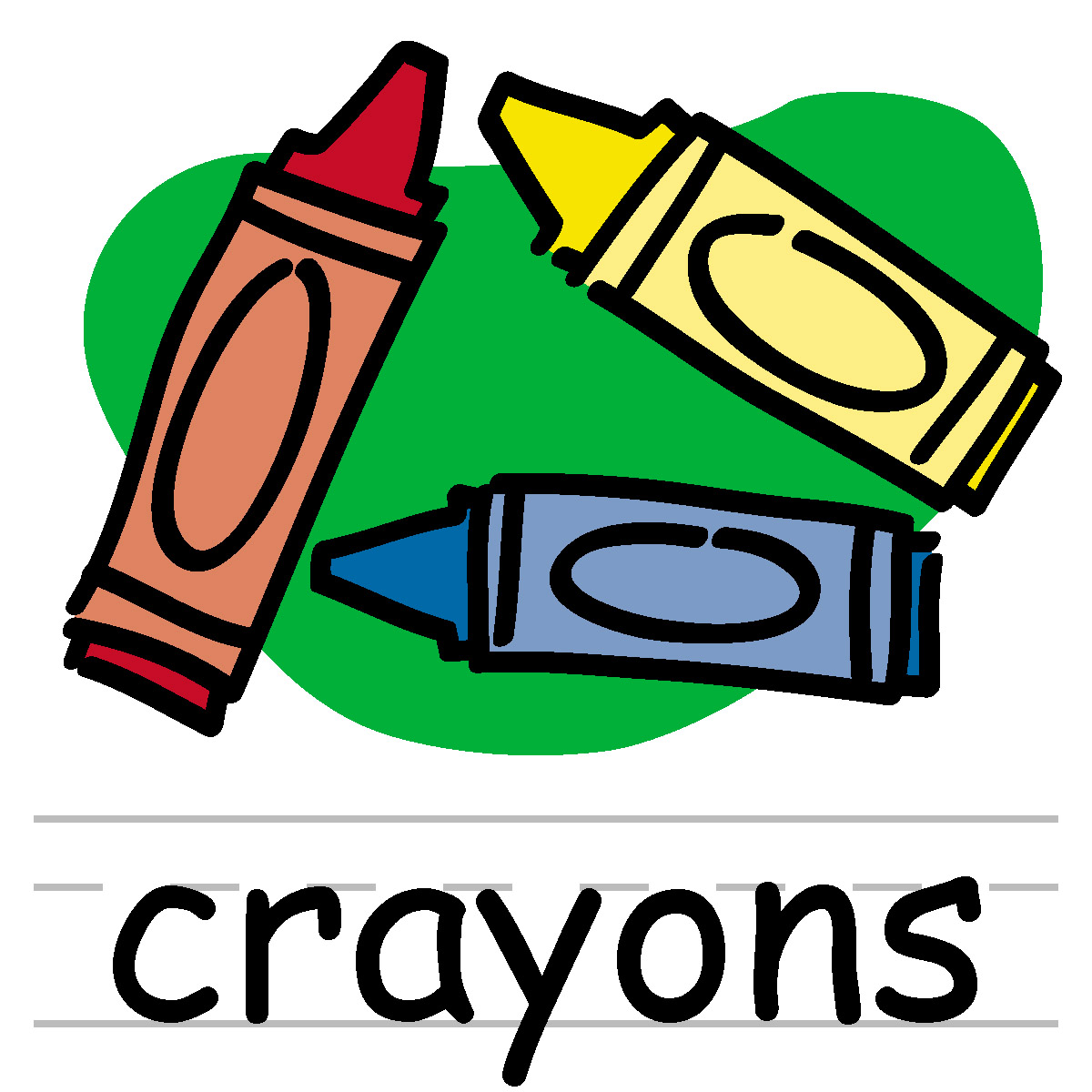 Clip Art: Basic Words: Crayons | Clipart Panda - Free Clipart Images