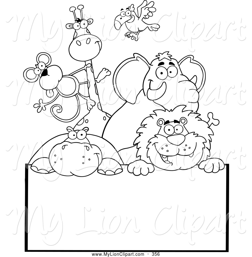 Coloring pages clipart clipart panda free clipart images for Free zoo animal coloring pages
