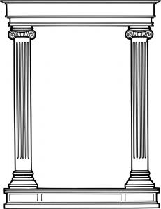 1911be576e1f Roman Column Frame Clipart