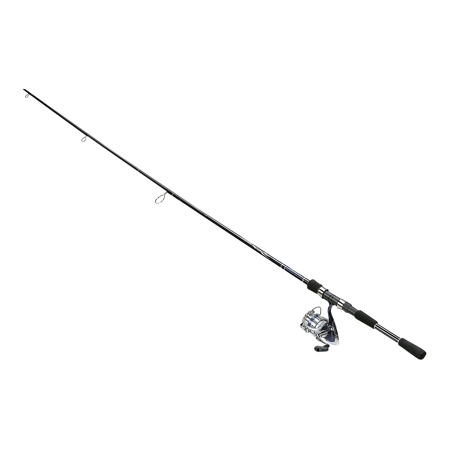 Fishing pole with fish black and white for White fishing rod
