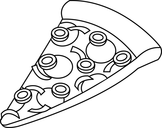 Pizza Clipart Black And White Clipart Panda Free
