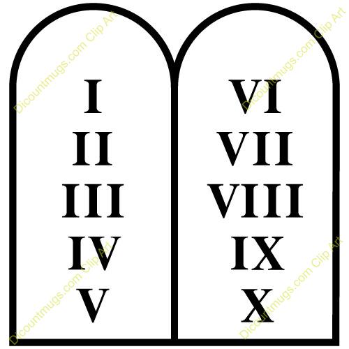 10 Commandments Clip Art - Christian Clipart