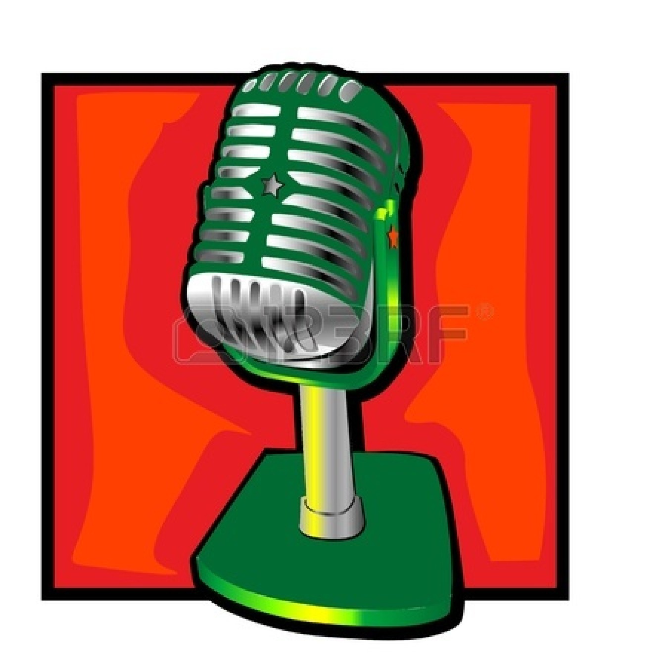 retro microphone clip art with