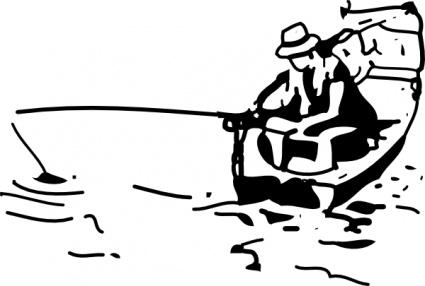 Cartoon Panda Drawing Fishing Boat Cartoon C...