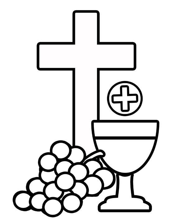 Catholic first communion cross clip art clipart panda for Eucharist coloring pages