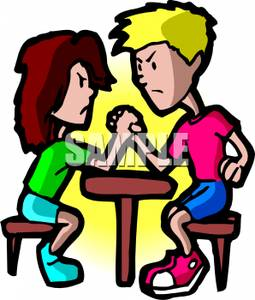 competition-clipart-Boy and Girl Arm Wrestling Royalty Free Clipart    Strong Girls Clipart