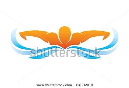swimming butterfly silhouette clipart panda free