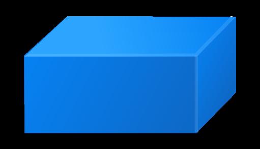 Cuboid shape clipart