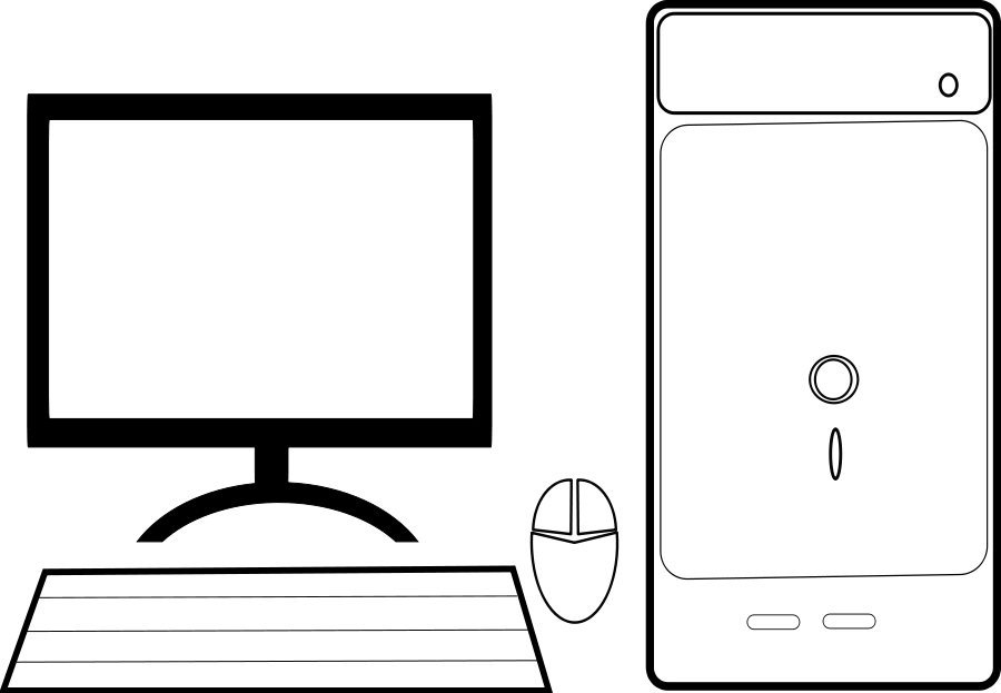 Computer Clip Art Outline   Clipart Panda - Free Clipart Images