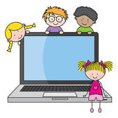 Image result for children with computer clipart
