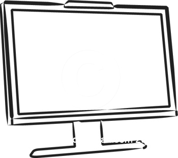 computer%20screen%20clipart%20black%20and%20white