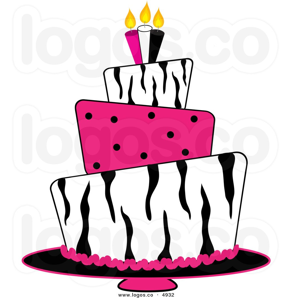 Cake elegant. Girl birthday clip art