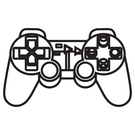 Line Drawing Xbox Controller : Console clipart panda free images