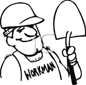 Construction Site Clipart Black And White