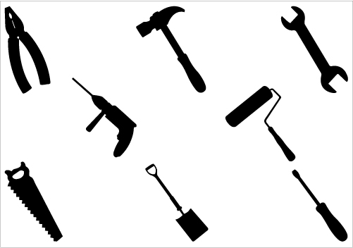 Construction Tools Clipart Black And White | Clipart Panda ...