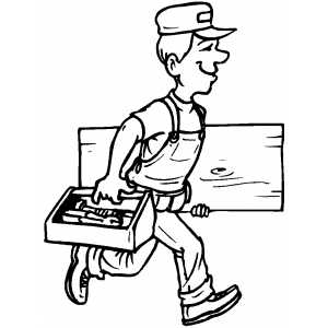 carpenter tools coloring pages - photo#19