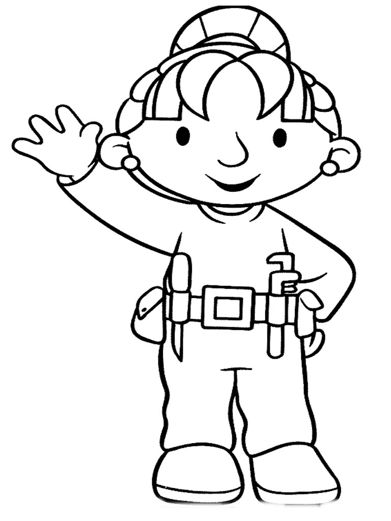 Construction Tools Coloring Pages Clipart Panda Free