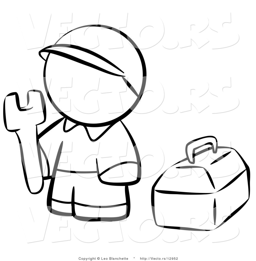 Tool Box Coloring Page Tools-coloring-pages-vector-of