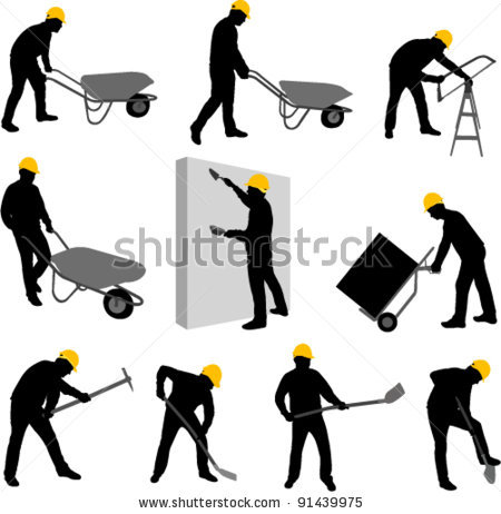 Construction Worker Silhouette | Clipart Panda - Free Clipart Images