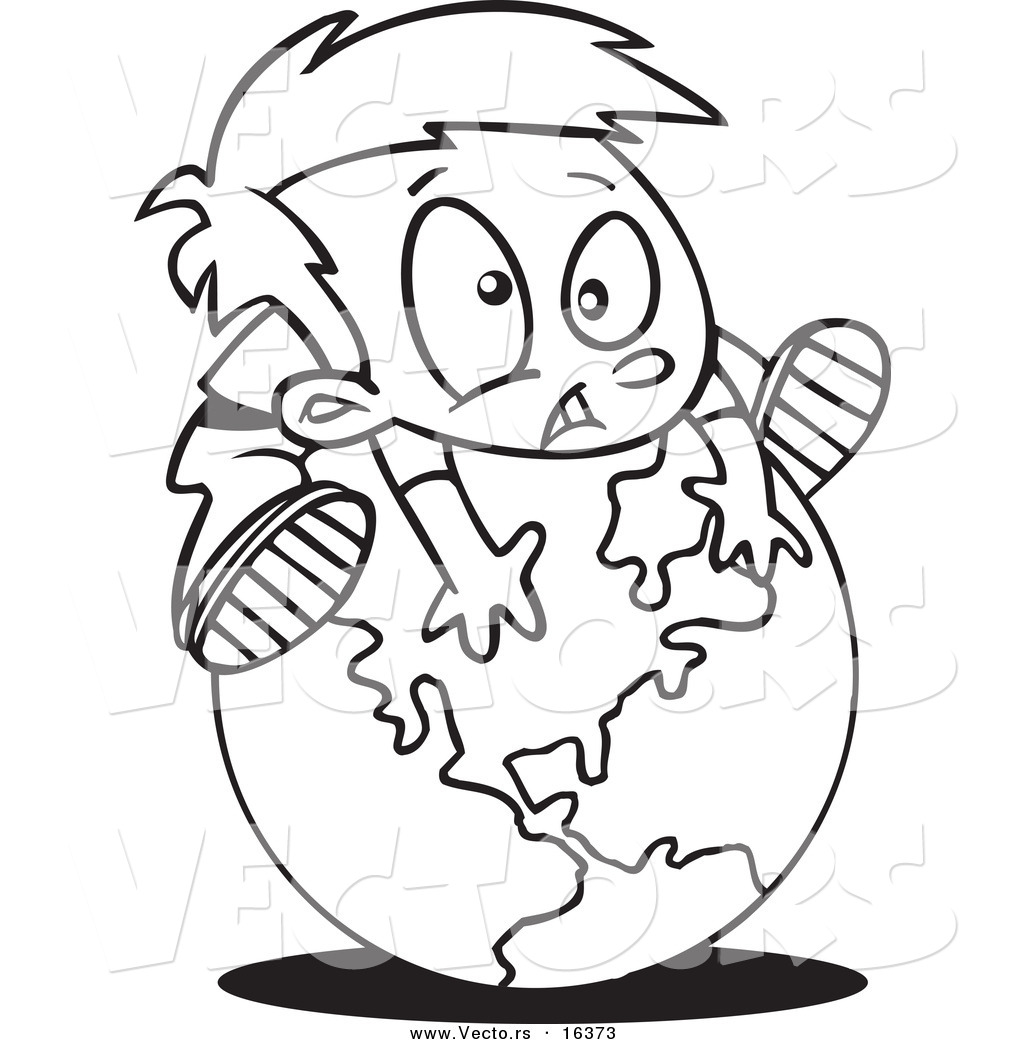 Continents Coloring Page