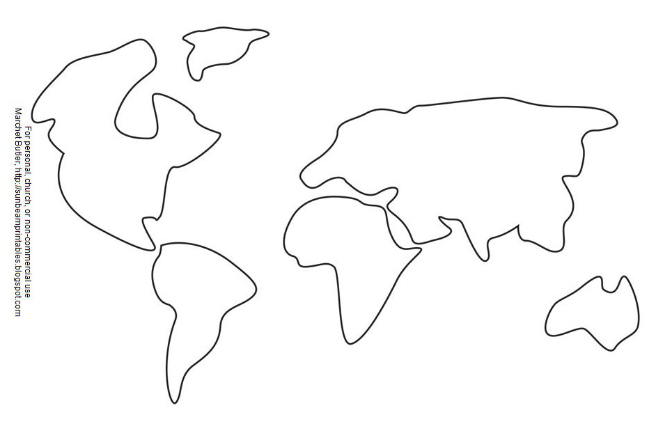 seven continents coloring pages - photo#4