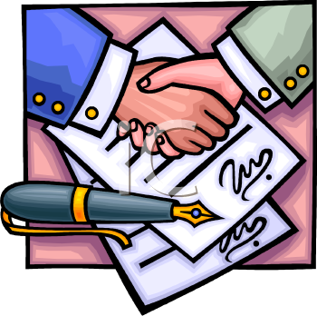Signing A Contract Clip Art Clipart Panda Free Clipart